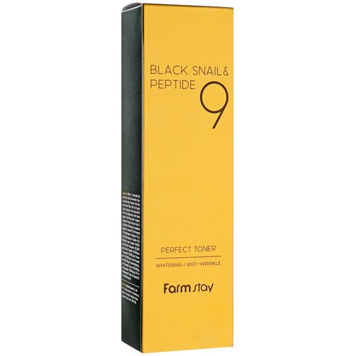 FarmStay Black Snail & Peptide 9 Perfect Toner