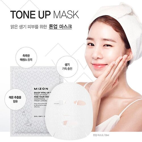 Mizon Enjoy Vital-Up Time Tone Up Mask Find Your White Skin