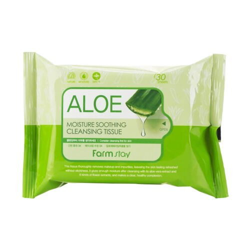 Farmstay Aloe Moisture Soothing Cleansing Tissue