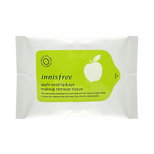 Innisfree Apple Seed Lip and Eye Remover Tissue