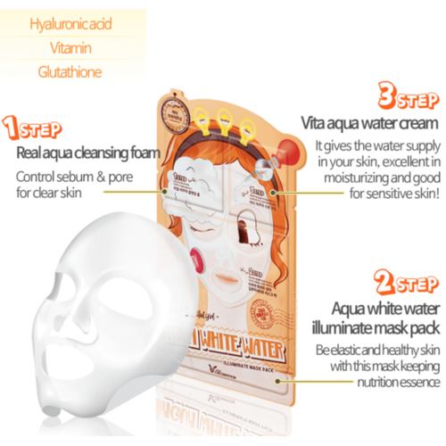 Elizavecca 3-Step Aqua White Water Mask Pack