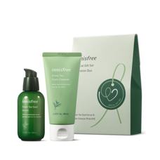 Innisfree Green Tea Special Gift Set Hydration Duo  ( Innisfree Green Tea Serum + Foam Cleanser)